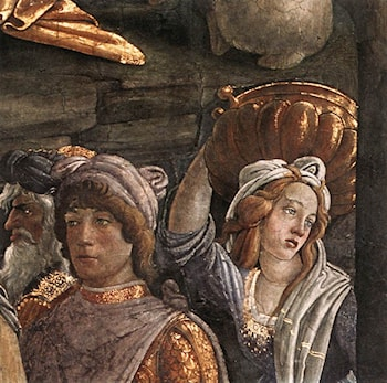 Scenes from the Life of Moses [detail: 4] by Sandro Botticelli